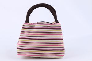 Promotional Factory Direct Sale Stripped Lunch Bag Handbag Fashion Design pictures & photos