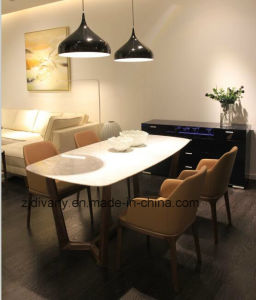Modern Style Wooden Marble Table Dining Table (E-31-2) pictures & photos