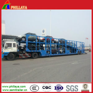Double Axles 6-32units Transporting Car Carrier Semi Trailer pictures & photos