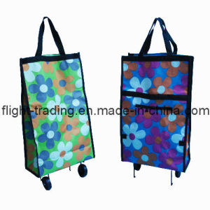 Foldable Wheels Shopping Bag (DXB-1260) pictures & photos