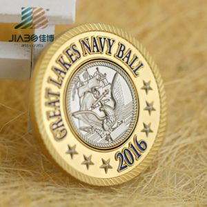 40 mm Customized 999 Silver Two Tone Medallion Metal Souvenir Challenge Coin for Promotional Gift pictures & photos