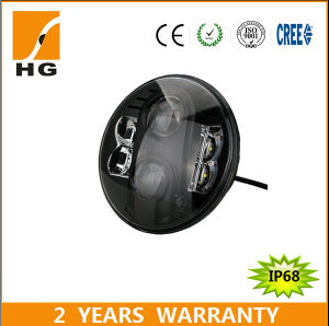 Emark DOT Approved 7′′ High Low Beam Harley CREE Xml-2 48W 30W LED Headlight for Jeep Wrangler pictures & photos