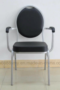 Dining Room Furniture Comfortable Modern Stacking Hotel Chair Armrest Metal Chair