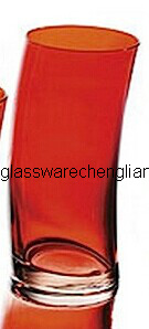 Colorful Slant Glass Cup (B-GTC01) pictures & photos