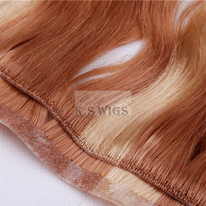 PU Skin Virgin Remy Hair Indian Human Hair pictures & photos