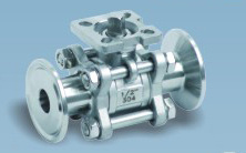 Three Clamps High Plateform Ball Valve