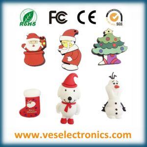 Soft PVC Custom USB Flash Drives Cheap Christmas Gift pictures & photos