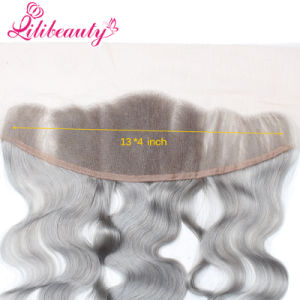 Silver Grey Ear to Ear Lace Frontal 13X4 Body Wave pictures & photos