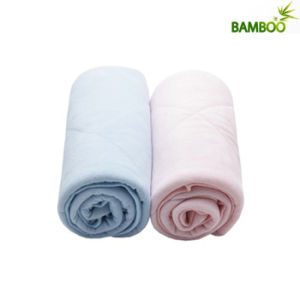 Customized Pure Color Knitted Bamboo Fiber Baby Blanket pictures & photos