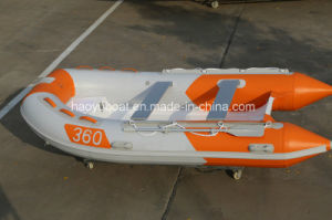 3.6m Rigid Inflatable Boat, China Qingdao Boat, Cheap Rib Boat, PVC or Hypalon Boat with CE Certification pictures & photos