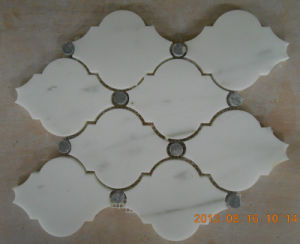 Water-Jet Oriental White Marble Lantern Mosaic Tile pictures & photos
