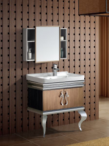 Stainless Steel Bathroom Vanity (T-9476) pictures & photos