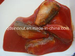 425g Canned Mackerel in Tomato Sauce (HACCP, ISO, BRC, FDA etc) pictures & photos