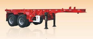 2 Axles Skeleton Container Semi Trailer