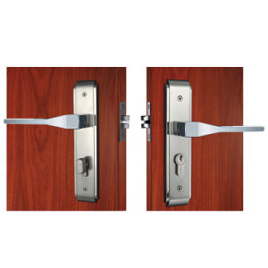 Best Selling Zinc Alloy Safe Privacy Door Lock in Satin Nickel pictures & photos
