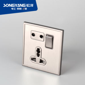 Stainless Steel Series Mf/Socket Wall Socket