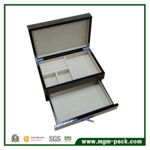 High Glossy Wooden jewellery Storage Box with Drawer pictures & photos