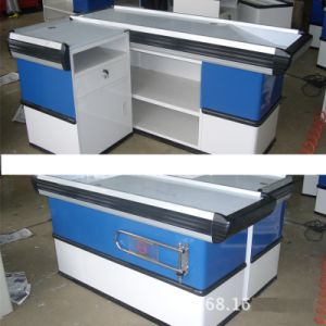 High Quality Metal Supermarket Checkout Cash Desk pictures & photos