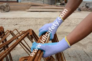 Latex Work Glove with Very Good Elasticity (LPS3021) pictures & photos