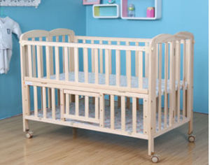 Solid Pine Wood Baby Bed with Popular (M-X3019) pictures & photos