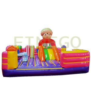 Finego Inflatable Jumpers Moonwalk Kids Bounce Houses for Sale pictures & photos