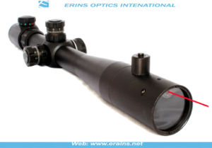 Tactical M14 4-14X40+R Rifle Scope -Red Green Mil-DOT Reticle with Front Inside Red Laser Attached pictures & photos