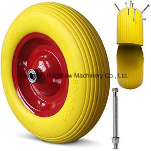 Wheelbarrow Wheels Tyre PU 4.80 Steel Rim Breakdown pictures & photos