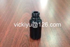 10ml Lotion Glass Bottles, Black Glass Cosmetis Bottles pictures & photos
