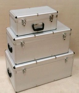 3 Sets Aluminum Tool Case UK ATA Case Flight Rack Cases Flight Case Aluminum Case
