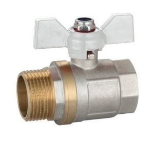 Brass Ball Valve with Butterfly Handle Russia Mode