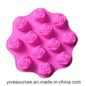12 Even of Piece, Rose Design Cake Mould, Silicone pictures & photos