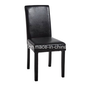 2 X Black PU Leather Seat Dining Chair Wooden Legs Chairs Dining Room pictures & photos