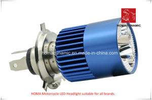 Motorcycle LED Headlight A08-03 H4 Two Side LEDs pictures & photos