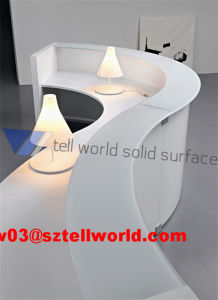 2017 Top Sale Hotel Curved Reception Desk pictures & photos