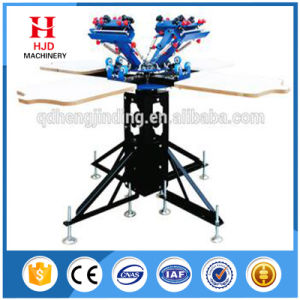 4 Color 4 Station Manual T Shirt Screen Printing Machine pictures & photos