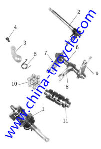 Spare Parts of Transmission Comp of Tricycle Engine (SP-SP-18) pictures & photos