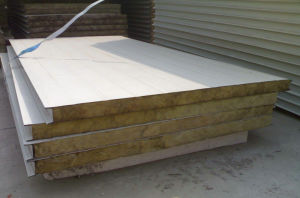 Insulated Rock Wool Sandwich Wall Panel for Prefabricated House pictures & photos