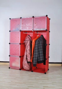 Red Wardrobe Plastic Storage Organizer, Home Storage Products pictures & photos