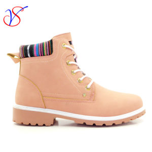 2016 New Style Injection Women Work Boots Shoes for Job (SVWK-1609-020 PINK) pictures & photos