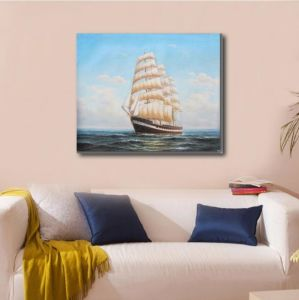 Art Painting of Sailing Ship on Sea pictures & photos