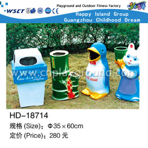 Outdoor Dolphin Model Trash Bin in Park (HD-18701) pictures & photos