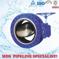 Double Flange Center Line-Type Butterfly Valve pictures & photos