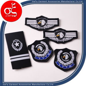 Wholesale Custom Eagle Woven Patch Iron on Clothing Uniform pictures & photos