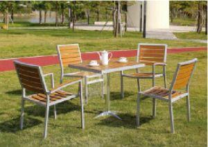 Outdoor Garden Furniture Aluminum Wooden Table