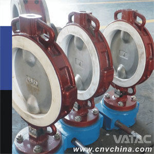 Triple Eccentric Resilient Seated Rubber Lining Butterfly Valves pictures & photos