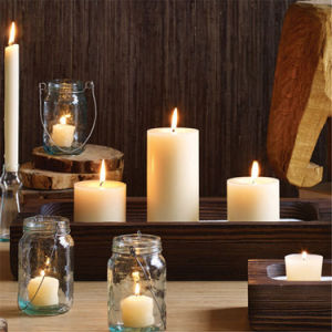 Long Burning White Pillar Candles pictures & photos