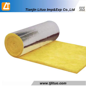 Yellow Color Glass Wool Rolls with Sing Side Aluminium Foil pictures & photos