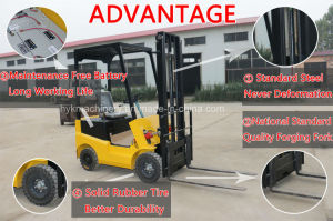 1 Ton Four-wheel Drive Electric Forklift Lift Truck For Sale pictures & photos
