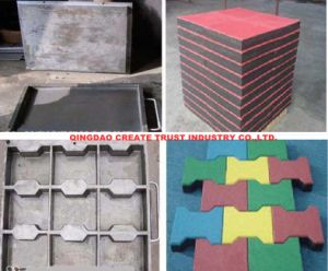 Economic Rubber Tile Press/Rubber Tile Vulcanizing Press Machine pictures & photos