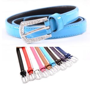 Lady Skinny Fashion PU Leather Belt Multi Colors pictures & photos